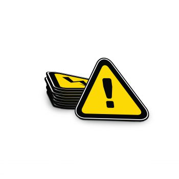 Warning Magnet Triangle 90 x 81 mm